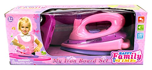 Happy Family 'My Iron Board Set' Toy Iron Board Playset w/ Clothes Iron, Ironing Board