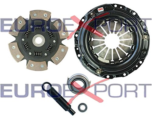 (Competition Clutch Disc and Pressure Plate Kit for Honda Acura B16 B18 B20 Ceramic 6 Puck Sprung Stage 4 8026-1620)