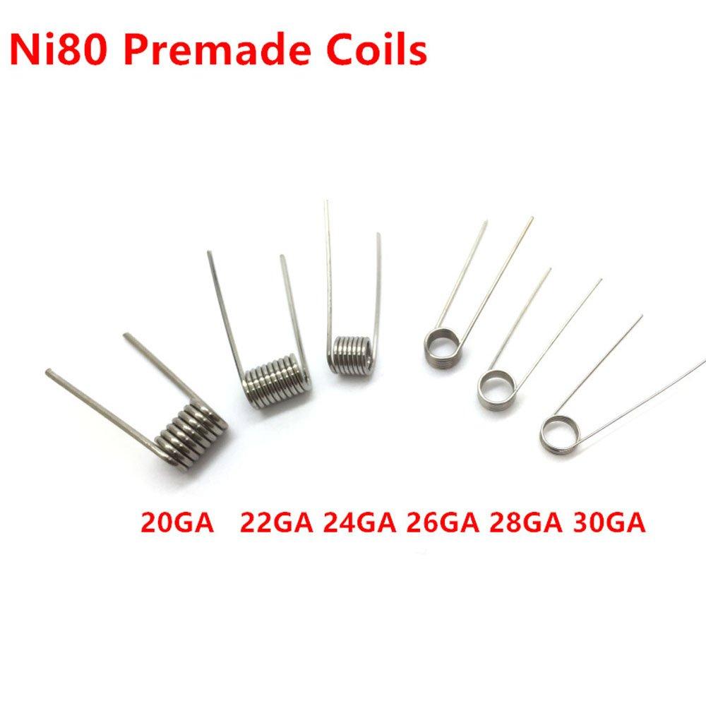 100pcs Box Heating Wire Coil Rda Rta Rdta Pre Made Coils Ni80 Wiring Including The Power Inside Coilsbox My Term Prebuilt 20 22 24 26 28 30ga 24ga Health Personal Care