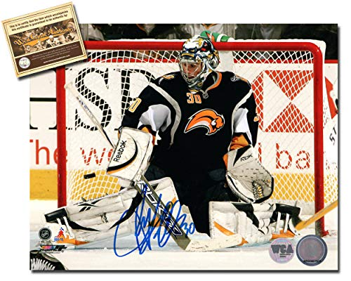 Ryan Miller Autographed Signed 8x10 Hockey Photo Memorabilia Certified with WCA Dual Authentication Holograms and COA (Photo Signed Nhl Buffalo Sabres)