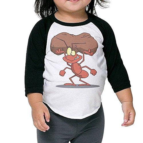 Bpbzz Baby Ants Stone Raglan T Shirts Baseball 3/4 Sleeves Tee 2 Toddler