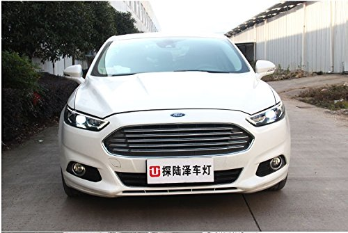 GOWE Car Styling For Ford Mondeo 2013-2015 LED Headlight for Fusion Head Lamp LED Daytime Running Light LED DRL Bi-Xenon HID Color Temperature:8000k;Wattage:55w 4
