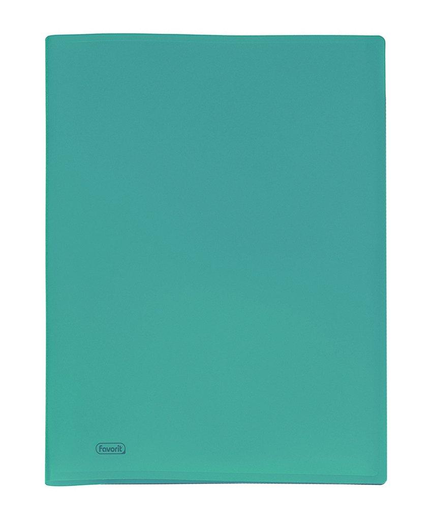 Favorit 400083612 Portalistino con 40 Buste, 22x30 cm, Turchese