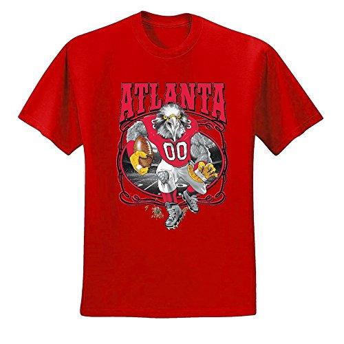 (Wild Bobby Atlanta Fan | ATL Fantasy Football | Mens Sports Graphic T-Shirt, Red, 4XL)