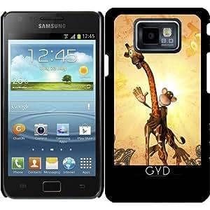 Funda para Samsung Galaxy S2 (GT-I9100) - Jirafa Divertida Con El Mono by nicky2342