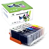 Supricolor Replacement for PGI-270XL CLI-271XL Ink Cartridge High Yield 5 Color (1 BK, 1 PB, 1C, 1M, 1Y) Used in PIXMA MG5720 MG5721 MG5722 Pixma MG6820 MG6821 MG6822 Printer