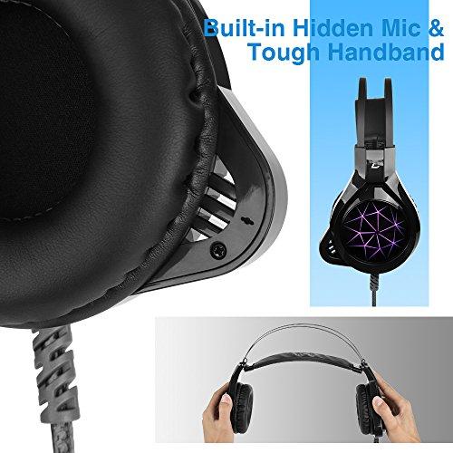 Auriculares Madgiga CT/CZ USB para gaming con cable con micrófono/con micrófono oculto, audio Stereo Bass con led, auriculares para PC: Amazon.es: ...