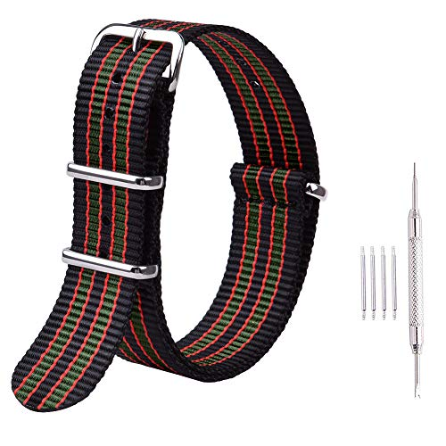 (Ritche 20mm NATO Straps Nylon Watch Bands Compatible with Timex Expedition Watch for Men Women)