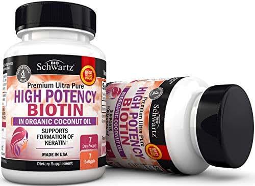 Biotin High Potency in Organic Coconut Oil - Sample