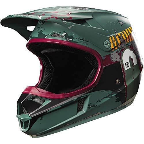 Fox Racing V1 Boba Fett Limited Edition Youth Boys Off-Road Motorcycle Helmets - Green/Medium