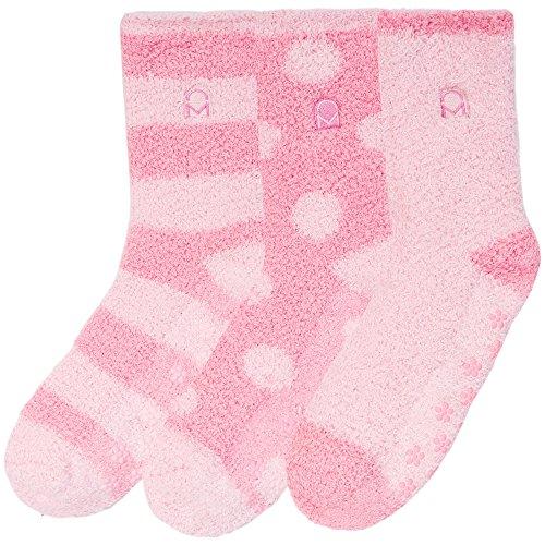 3-Pairs Womens Noble Mount Soft Anti-Skid Fuzzy Winter Socks - Set C11