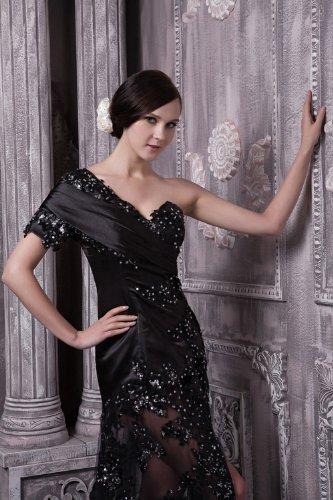 Moderne Abendkleid Schwarz GEORGE BRIDE Schwarz aermeln langes Ein formales axSHSw