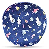 : BORITAR Cute Dinosaur Design for Boy Minky Removable Cover for Newborn Lounger Super Soft Fabric with White Dotted Backing