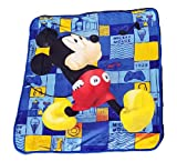 Disney Mickey Mouse Club House Plush Sherpa Baby Size Blanket - Railroad Whistling