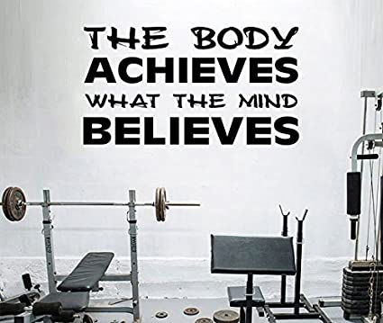 Amazon.com: Fitness diseño de pared Cita Palabras ...