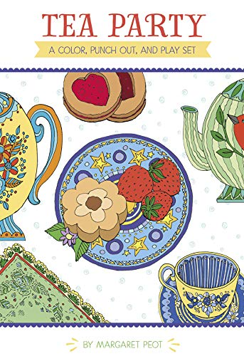 Pomegranate Communications, Inc. Coloring Books for Kids Crafts for Girls Tea Party Set for Little Girls Arts and Crafts for Girls - Color Punch Out & Play Set 16