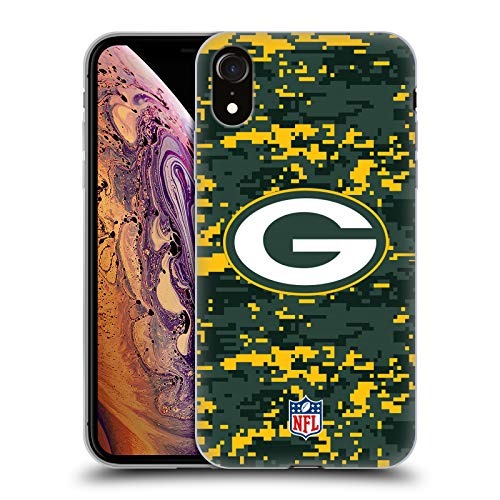 (Official NFL Digital Camouflage 2018/19 Green Bay Packers Soft Gel Case for iPhone XR)