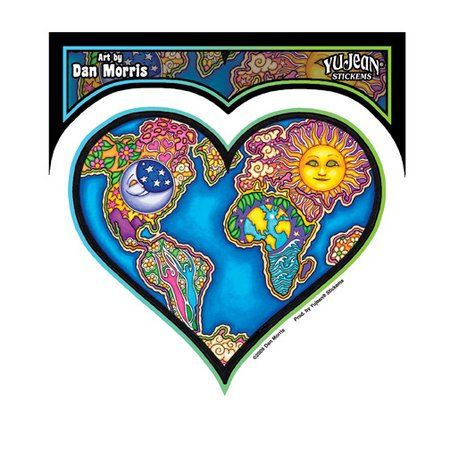 Dan Morris - Earth Heart - Sticker / Decal
