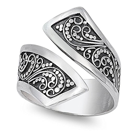 Sterling Silver Womens Filigree Sizes