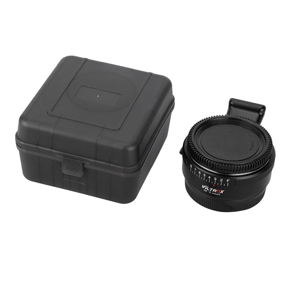 Andoer VILTROX NF-E mise au point manuelle F monture adaptateur Telecompressor r/éducteur Booster pour cam/éra monture E de Sony NEX-F3//N3//3//C3//5//5C//5D//5N 5K//5 t//5R//6//7//A7//A7-2//A7R//A7S//A5000//A6000