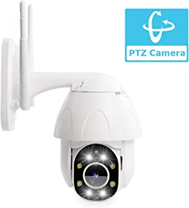 PTZ WiFi IP Camera, Fyuui 1080P Full HD Outdoor PTZ Wireless Security Camera