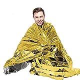 Gymforward Emergency Mylar Thermal First Aid Waterproof Blanket Outdoor Survival Retain Body Heat 82.67*55.11inch, Pack of 10
