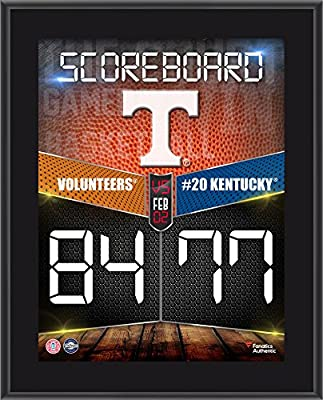 "Tennessee Volunteers 2016 Basketball Win Over Kentucky Wildcats 10.5"" x 13"" Sublimated Plaque - Fanatics Authentic Certified"