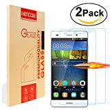 [2-Pack] Huawei Y6/Y6 + Screen Protector, Ivencase [Premium Tempered Glass] Ultra Slim [0.26 mm] Clarity Clear Protective Screen Film for Huawei honor 4A