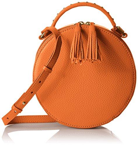 Amazon Brand - The Fix Hampton 2 Crossbody Leather Circle Bag, sorbet