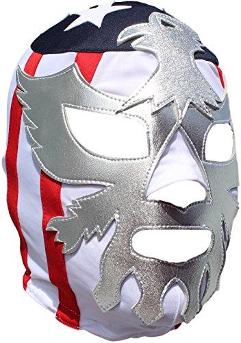 Patriot America Lycra Lucha Libre Luchador Mask Adult Size Silver