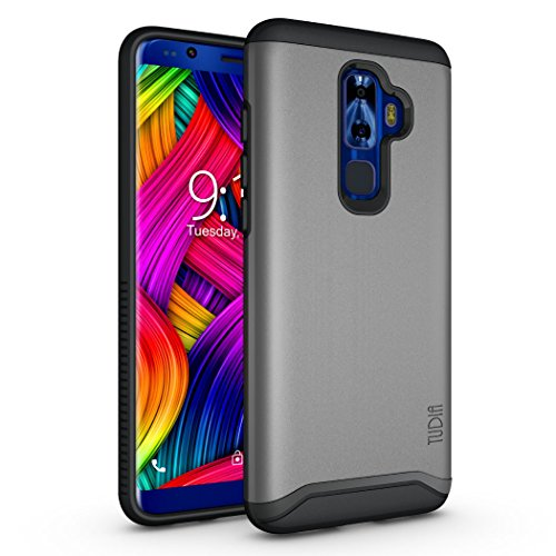 Nuu Mobile G3 Case, TUDIA Slim-Fit HEAVY DUTY [MERGE] EXTREME Protection/Rugged but Slim Dual Layer Case for Nuu Mobile G3 Android Smartphone (Metallic Slate) by TUDIA