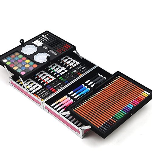 JIANGXIUQIN Artist Art Drawing Set, The Art Collection Creates Watercolor, Color Drawing Tools, and 168 Sets of Luxury Boxes Cover Up, Will Not Hurt Clothing and Skin Gifts for Children and Children. by JIANGXIUQIN (Image #1)
