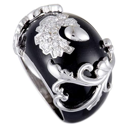 Nouvelle Bague 18K White Gold Diamond Pave and Black for sale  Delivered anywhere in USA