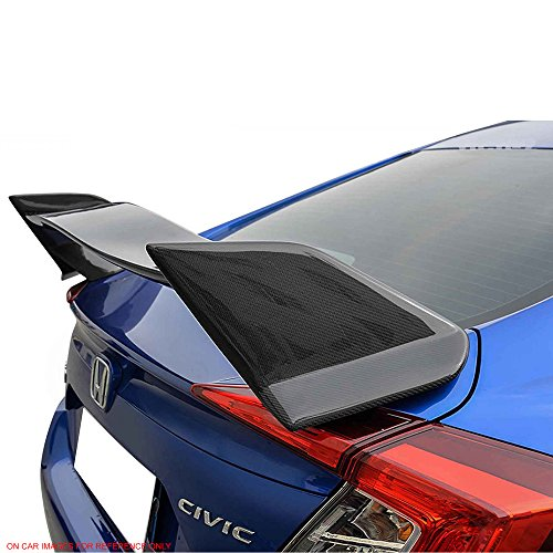 Amazon.com: Pre-Painted Trunk Spoiler Fits 2016-2018 Honda Civic 4Dr Sedan | TR Painted #731513 Glossy Black Center & Rallye Red ABS Rear Spoiler Wing Lid ...
