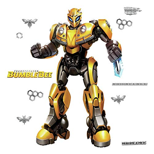 (RoomMates Transformers Bumblebee Peel And Stick Giant Wall Decal)