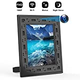 Hidden Spy Camera WiFi Photo Frame 1080P Home Security Camera Night Vision and Motion Detection Wireless IP Nanny Cam with One Year Battery Standby Time and Instant Alerts to Smartphone (Video Only)