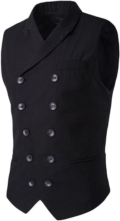 MODOQO Paisley Suit Vest for Men-Business Fashion Double Breasted Slim Fit Waistcoat