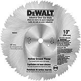 DEWALT DW3372 10-Inch 80 Tooth Hollow Ground Planer Steel Saw Blade with 5/8-Inch Arbor
