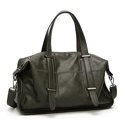 FangYOU1314 And Spring Black Summer Surface Large Simple Soft Shoulder Bag Color Green Capacity Waterproof Bag rgrwq