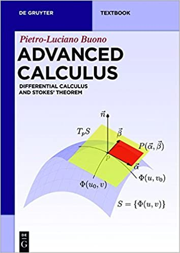 Advanced Calculus: Differential Calculus and Stokes' Theorem (De Gruyter Textbook) by Pietro-luciano Buono (2016-09-12)