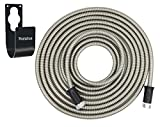 Metal Garden Hose Stainless Steel - with Metal Hook, Rust-Proof, Lightweight, Kink-Free, Stronger Than Ever, Easy to Use (50ft)