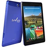 "Envizen 10.1"" Tablet 16GB Quad Core Android 4.4 WiFi 3G T-Mobile EVT10Q - Blue (Certified Refurbished)"