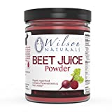 Wilson Naturals Organic Beet Root Juice Powder Superfood (Non-GMO) - Natural Nitrates (Nitric Oxide), Phytonutrients, No Additives/Fillers or Sweetners – Pure Beet Extract - 454 grams (90 Servings)