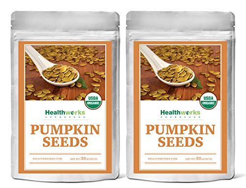 Healthworks Pumpkin Seeds Shelled Organic, 4lb (2 2lb Packs)