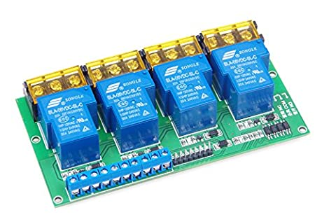 KNACRO 4-Channel DC 5V 30A Relay Module Control Board Optocoupler Isolation High/Low Trigger - Four Channel Module