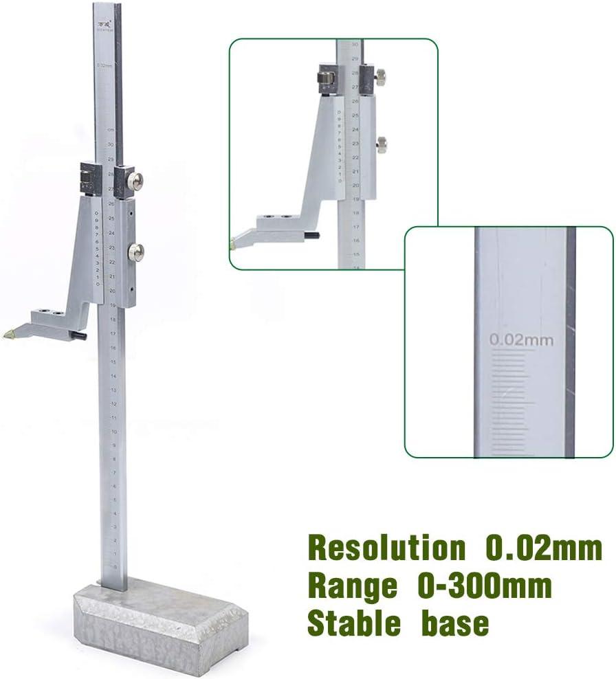 Caliper Vernier Ruler Tool,0-300mm Range,0.02mm Digital Height Depth Gauge Slide for Measure Height and Precision Marking US Shipment