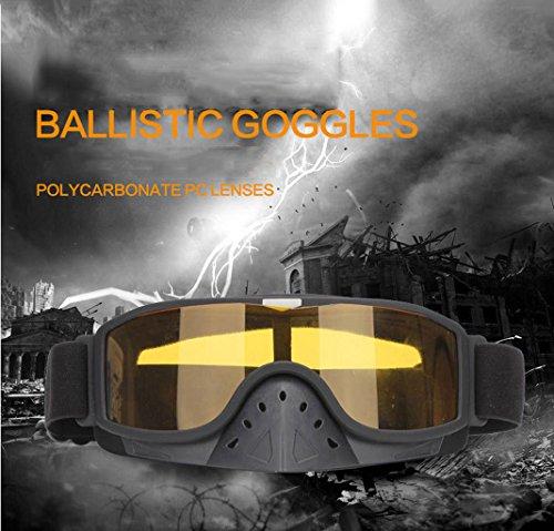 Prueba la Moto montadas Gafas Parabrisas Material a explosiones en de PC Cabeza de H8xTqa