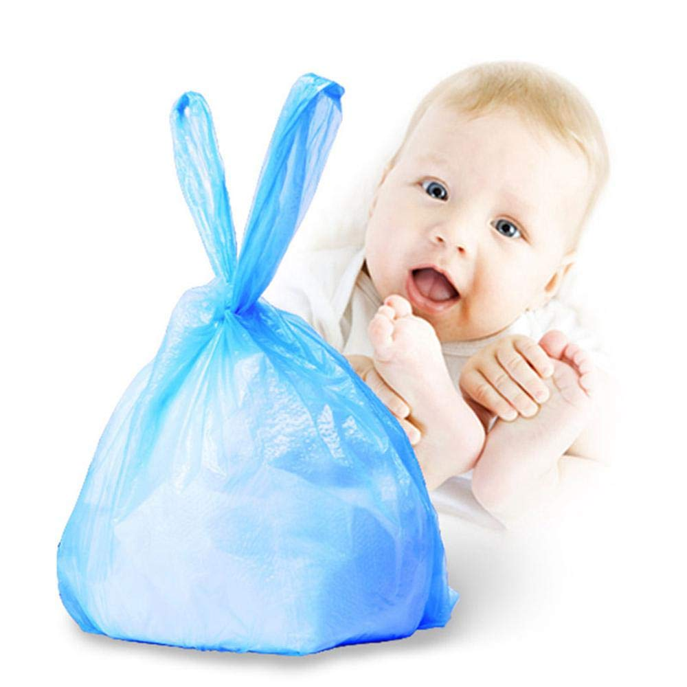 90 Count Baby Disposable Diaper Sacks Bags,100/% Biodegradable Diaper Vest Scent Bags Boxed Sterilization,BLUE