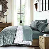 Southshore Fine Linens - Winter Brush Print - Reversible Comforter Sets, 3 Piece Set, King / California King, Teal