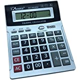 8 Digit English Talking Calculator with Alarm , Time Show, Check Money Office Computer